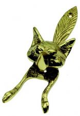 Fox Knocker in Polished Brass
